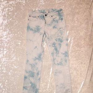 Acid Wash Light Blue Jeans